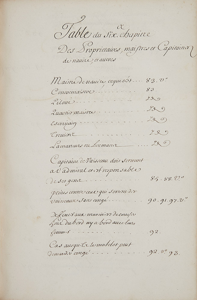 Extrait manuscrit